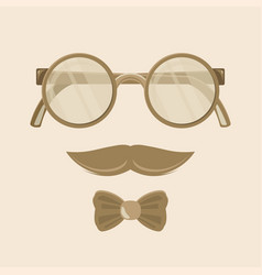 hipster sunglasses web banner flat design vector image vector image
