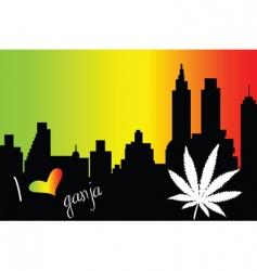 I love ganja city vector