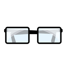 Isolated study glasses vector