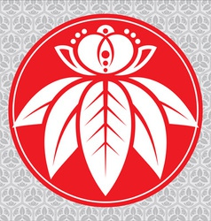 japanese lotus vector image