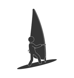Kitesurf sport exteme vector