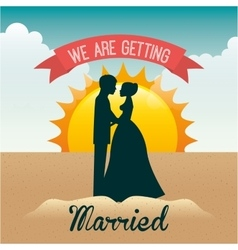 Marriage vacations vector