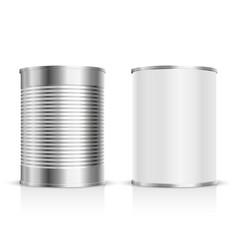 metal tin set vector image