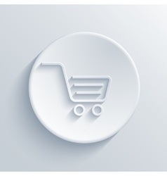 modern light shopping circle icon vector image vector image