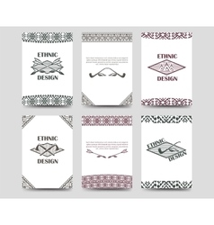 Native american style borders cards vector image vector image