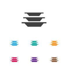 of cook symbol on plates icon vector image vector image