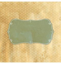 Old Retro Vintage Badge vector image vector image