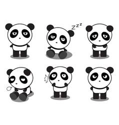 Panda-action vector image vector image