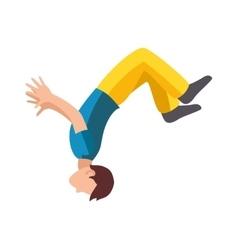 Parkour trick people extreme sport cartoon vector