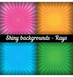 Rays Sunburst Pattern set of different colors vector image