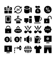 Shopping icons 3 vector