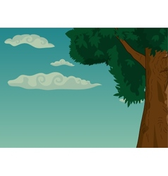Summer landscape with trees and foliage vector image vector image