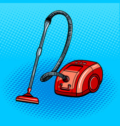 Vacuum cleaner pop art style vector