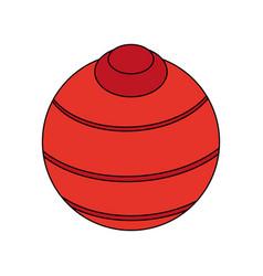 Yoga ball design vector
