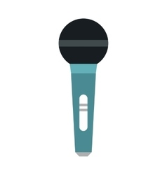 Microphone icon in flat style vector