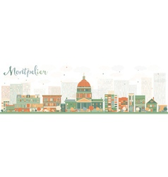 Abstract montpelier vermont skyline vector