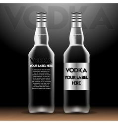 Vodka bottles mockup with your label here vector