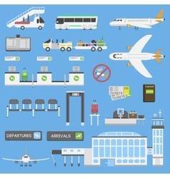 Airport symbols set vector image