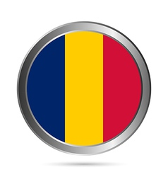 Chad flag button vector