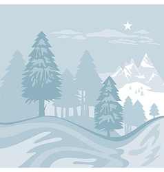 Winter alpine landscape vector