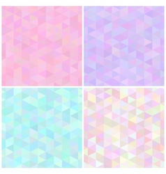 Abstract triangular seamless patterns vector