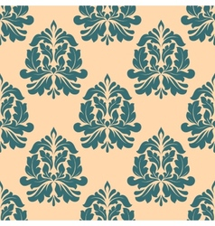 Vintage seamless pattern with abstract iris vector