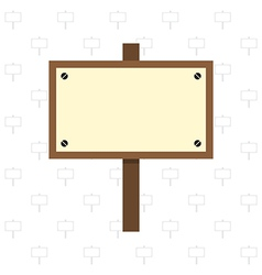 Wooden sign vector