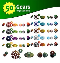 Gears logo set vector