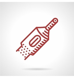 Red line tattoo machine tube icon vector