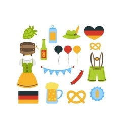Oktoberfest Colorful Elements vector image