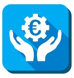 Euro maintenance icon vector