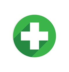 Green circle icon vector