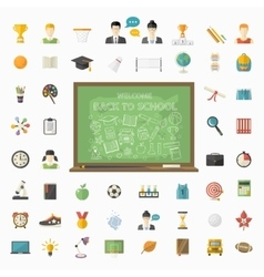 Education big set in flat style vector