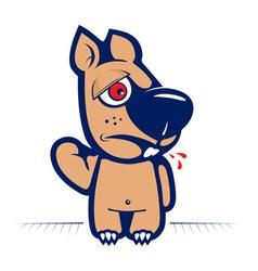 Cartoon evil squirrel character vector