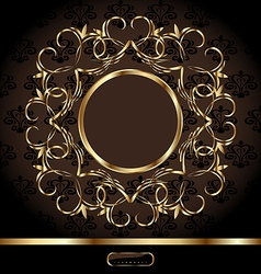 Golden ornate frame vector