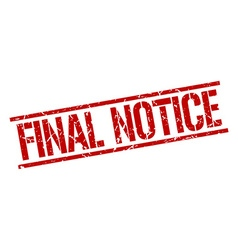 Final notice stamp vector