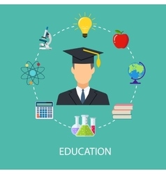 Concept of school education study training vector
