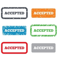 Accepted sign icon Approved symbol vector image
