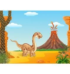 Adorable cute dinosaur vector