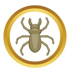 Beetle woodworm icon vector
