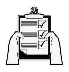checklist board document vector image