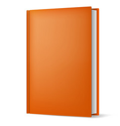 Classic light brown book in front vertical view vector