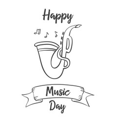 Collection stock music day celebration vector