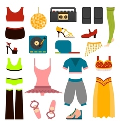 design dance clothes vector image