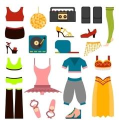 Design dance clothes vector