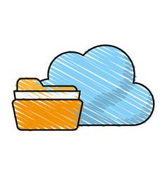 Find archiving cloud vector