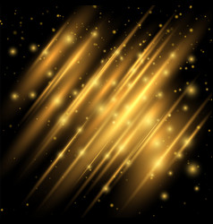golden lights effect abstract image of flare vector image vector image
