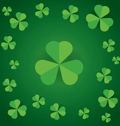 happy saint patricks day shamrock leaves pattern vector image