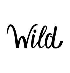 logo wild text vector image