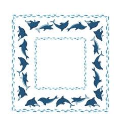 ocean frame vector image vector image